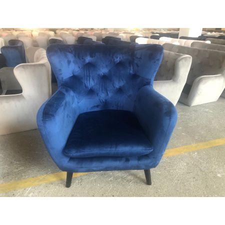 Yak Armchair - Royal Blue - Velvet