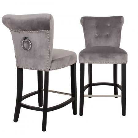 Knocker Back Breakfast Bar Stool Silver
