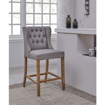Mal Barstool Oak/Grey