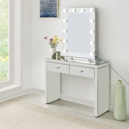 Hollywood Glass Console & Desktop Mirror