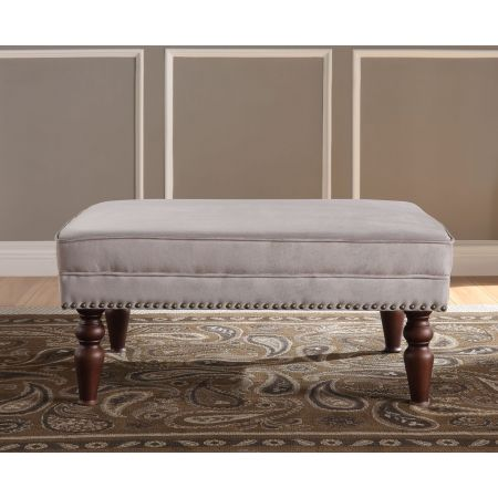 Hampton Footstool - Grey