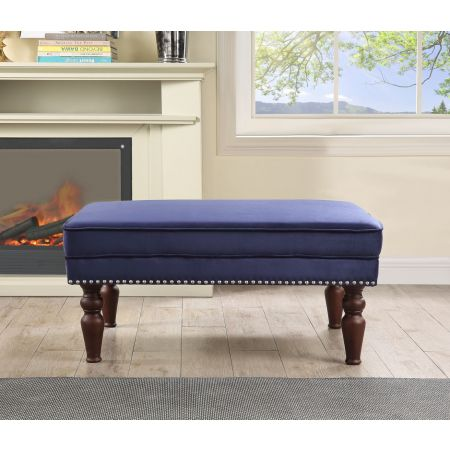 Hampton Footstool - Royal Blue