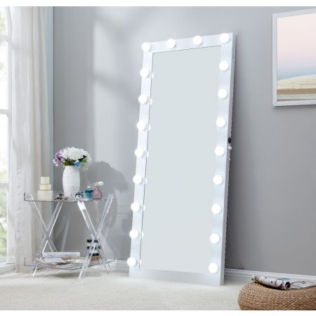 Hollywood Floor Mirror White