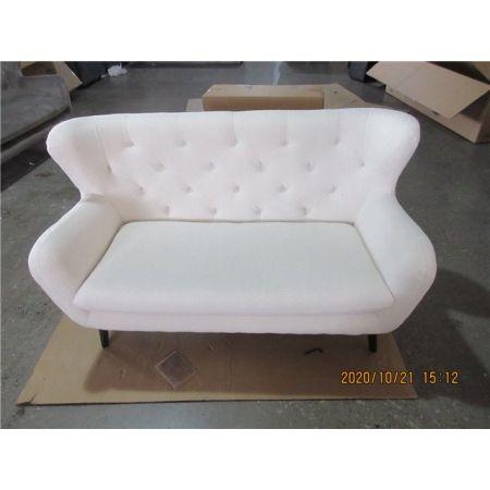 Yak 2 Seater Sofa - Short Faux Sheepskin - White
