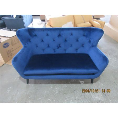 Yak 2 Seater Sofa - Royal Blue - Velvet