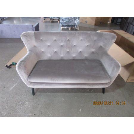 Yak 2 Seater Sofa - Mink - Velvet