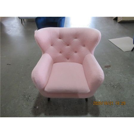 Yak Armchair - Short Fux Sheepskin - Pink