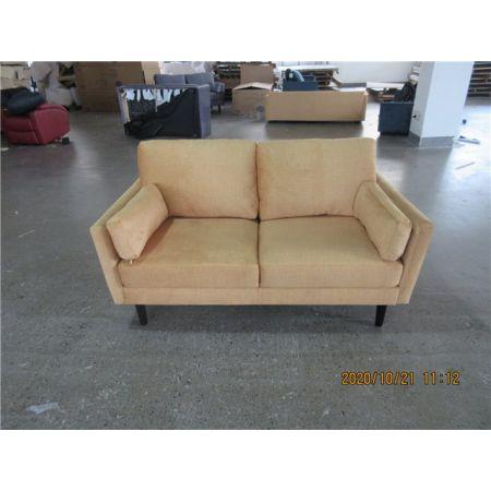Teddy 2 Seater Sofa - Rust Orange Velvet