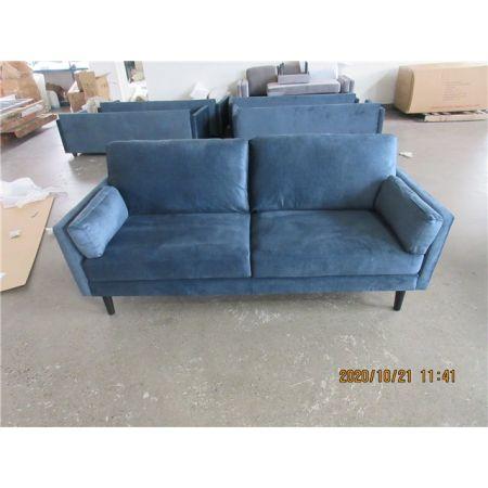 Teddy 3 Seater Sofa - Teal Velvet