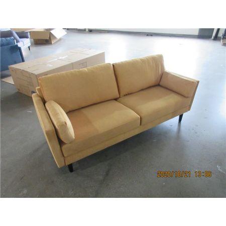 Teddy 3 Seater Sofa - Rust Orange Velvet