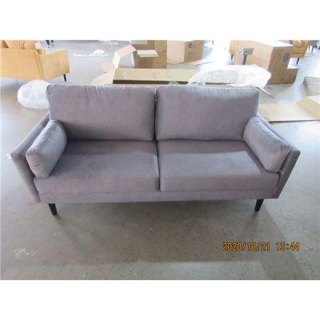 Teddy 3 Seater Sofa - Slate Grey Velvet