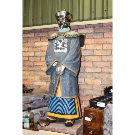 Asian worrier statue