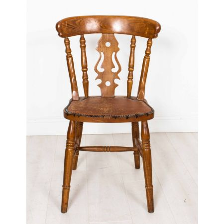 Fiddle back farmhouse side chair