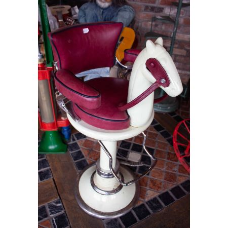 Vintage kids barbers chair
