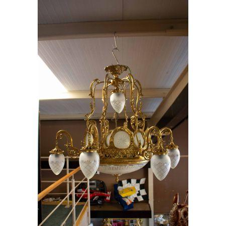 8 branch vintage chandelier