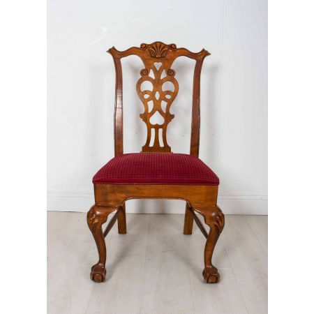 Fiddle back side dining chair