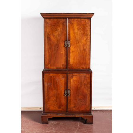 Double mahogany chest
