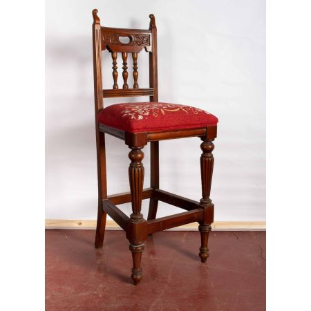 Mahogany high stool