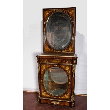 Continental kingwood mirrored breakfast cabinet