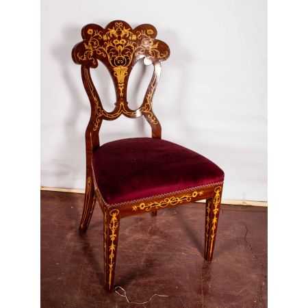 Inlaid salon chair