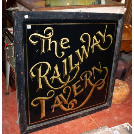 The Railway Tavern double sign