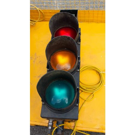Traffic lights on stand