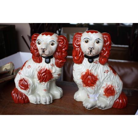 Pair of Staffordshire dog figurine
