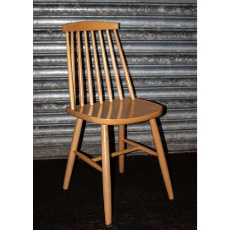 Natural wood spindle chairs