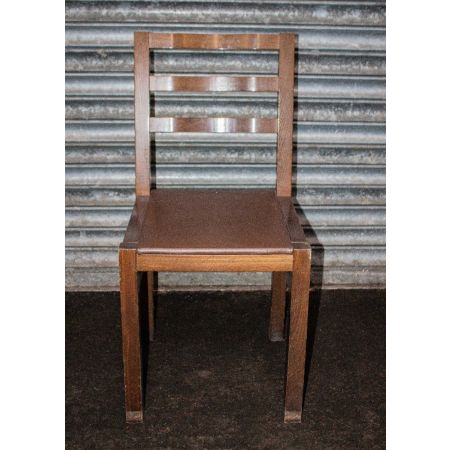 Side chair with leather upholstered seat