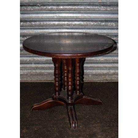 Solid mahogany coffee table  with barley twist legs