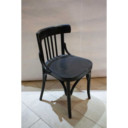 4 black bentwood chairs