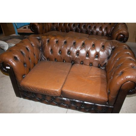 2 SEATER TAN CHESTERFIELD