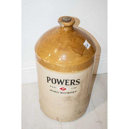 Powers Irish whiskey stone barrel