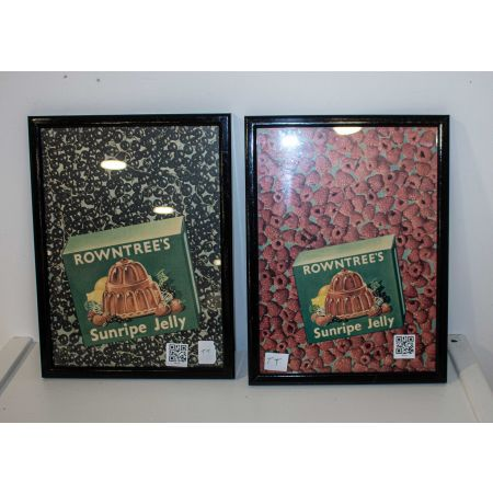 Rowntrees Sunripe Jelly two advertising prints