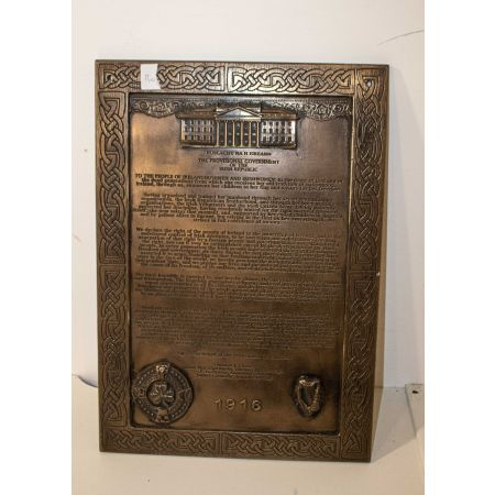 1916 Irish proclamation plaque