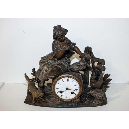 Vintage bronze clock
