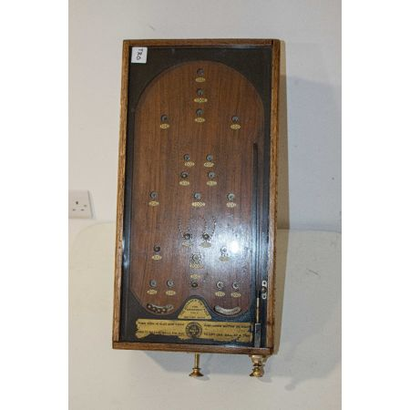 Vintage wooden pinball game