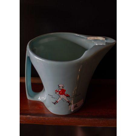Blue ceramic Johnny walker jug
