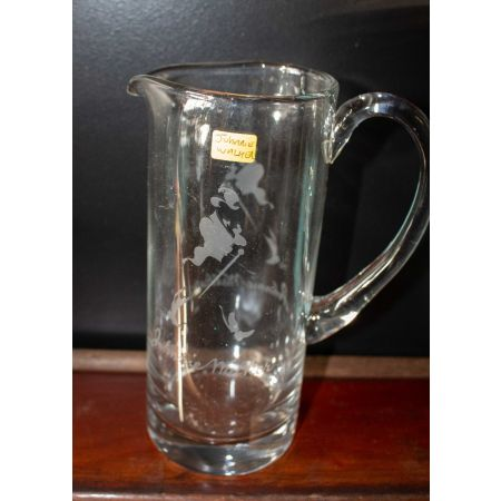Clear glass Johnny Walker jug