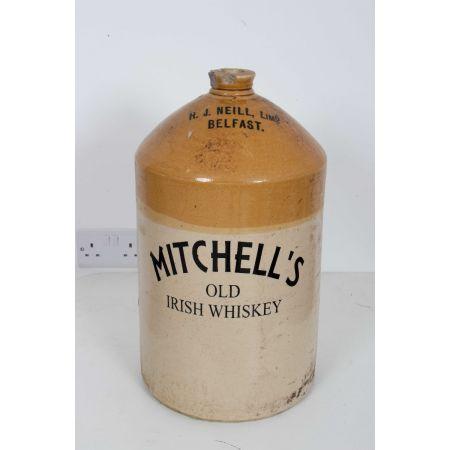 Mitchell's Old whiskey stone flagon