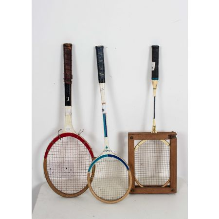 Vintage Tennis and Badminton rackets