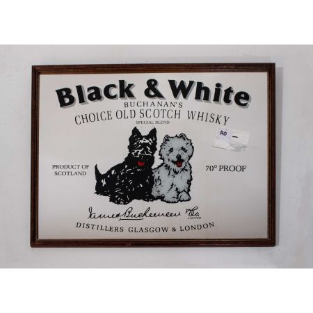 Black & White scotch whisky advertising mirror