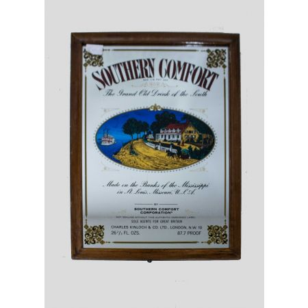 Southern comfort advertising mirror