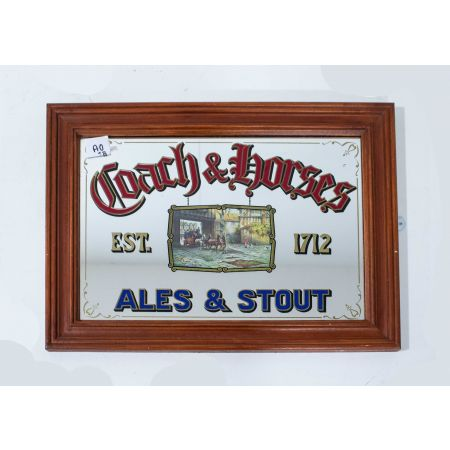 Coach & Horses advertising mirror