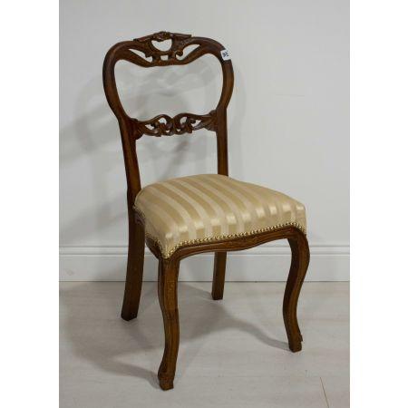 Mahogany stripe side chair