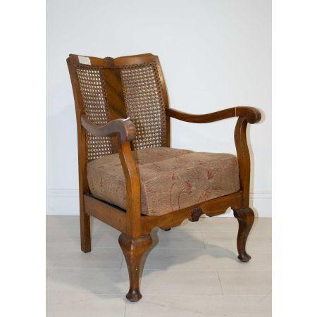 Low vintage armchair