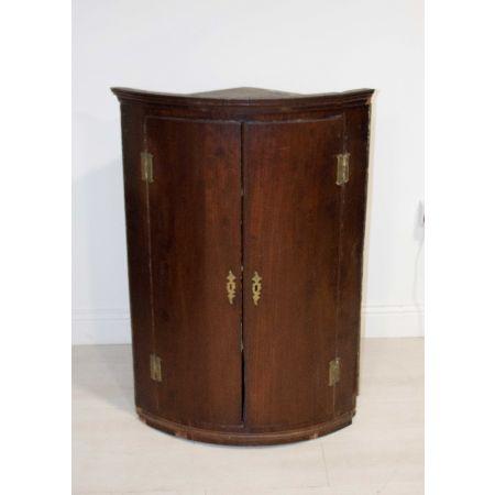Mahogany corner cupboard
