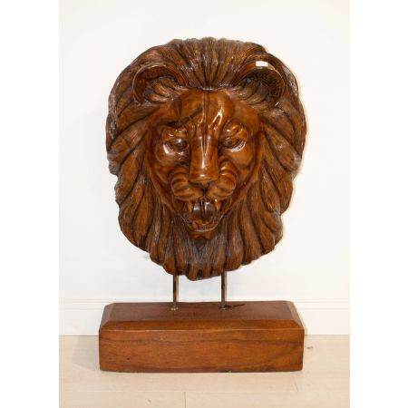 Carved Lion statue