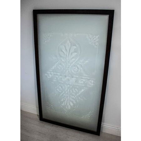 O'Tools etched glass with mahogany frame