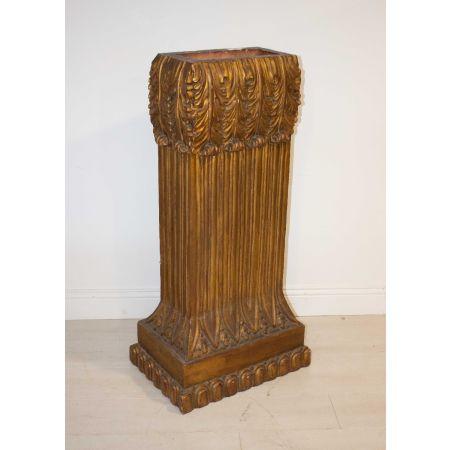 Gilded wood pillar